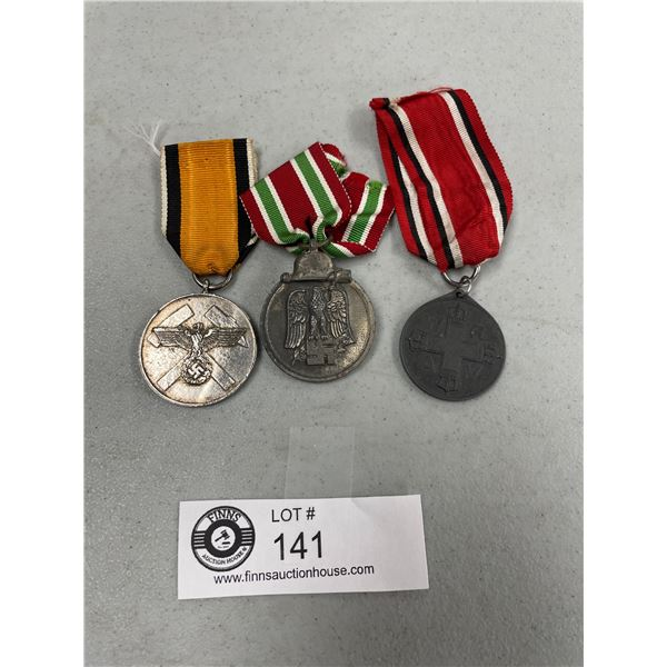 Lot of 3 German WWII Medals with Ribbon