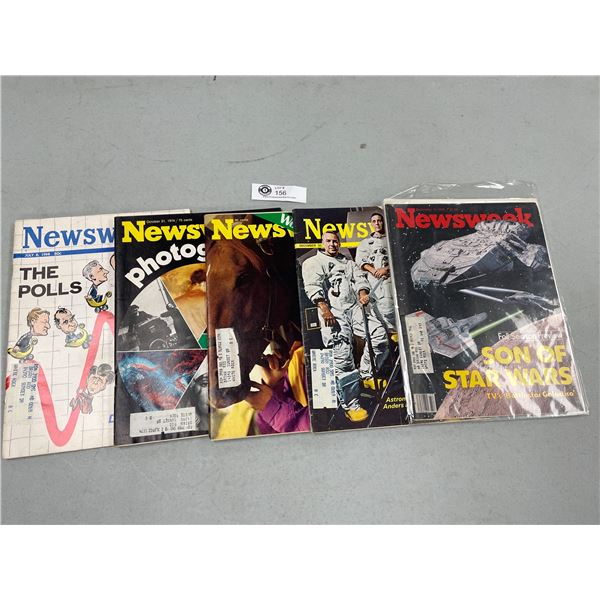 Lot of 5 Newsweek Magazines from the 1960's-70's