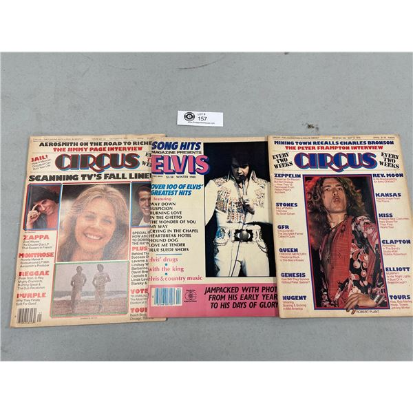 Lot of 3 Circus Rock and Roll Magazines from the 1970's
