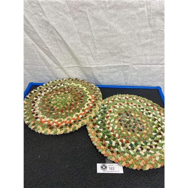 Vintage Braided Handmade Table Protectors, 12 inches round