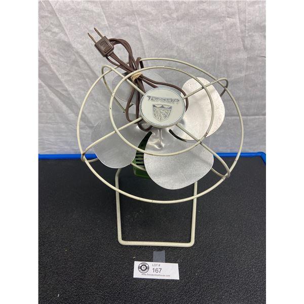 Vintage Torcan  Eight inch Electric Fan Model1057 , works!