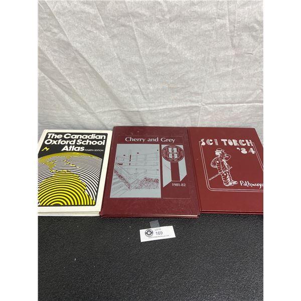 Vintage 1980's School Annuals and Atlas