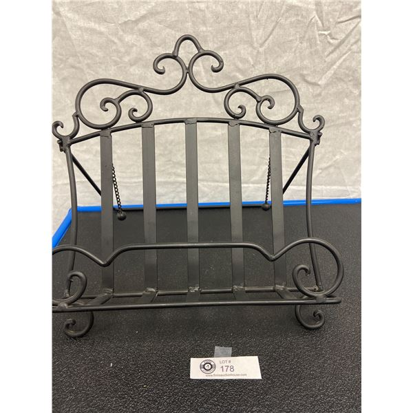 Wrought Iron Book Stand