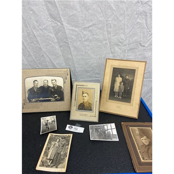 Lot of Vintage Black and White Military Photos
