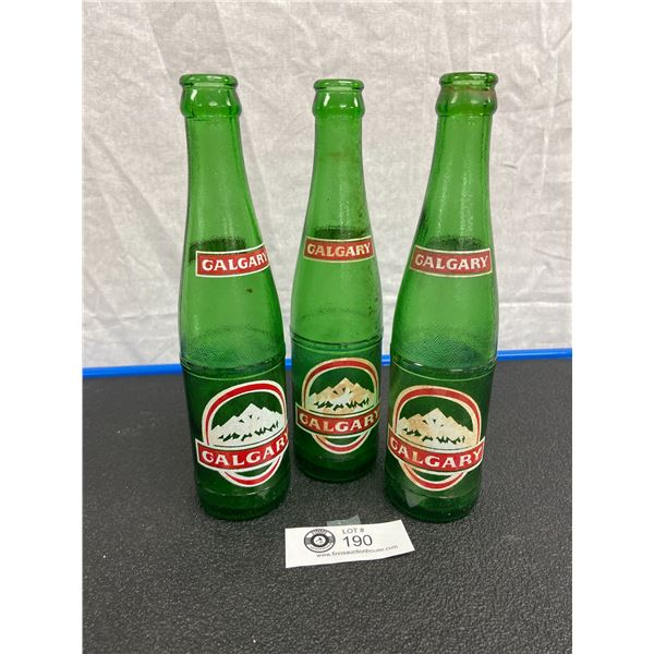Vintage Calgary Beverages Ltd Soda Bottles