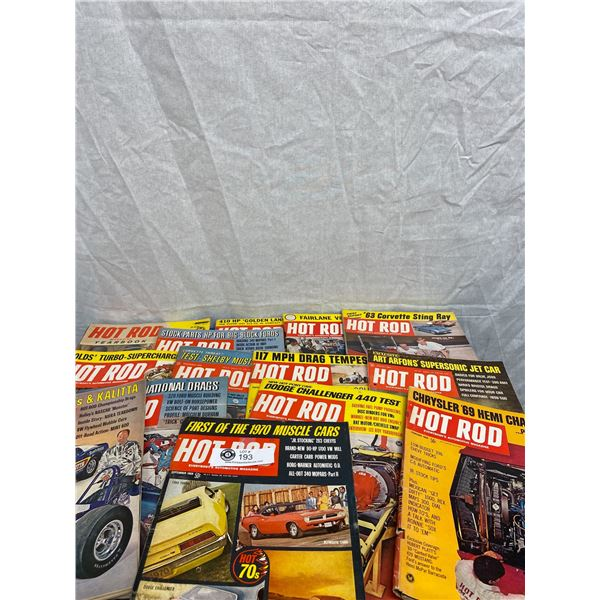 Nice large Lot of Hot Rod Magazines From 1960's*7's