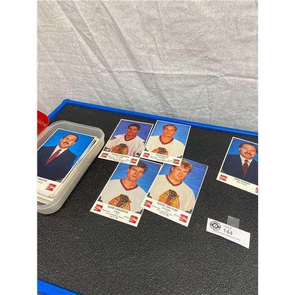 Lot of Coke NHL Chicago Blackhawks Autograph Photo Cards  No Signatures