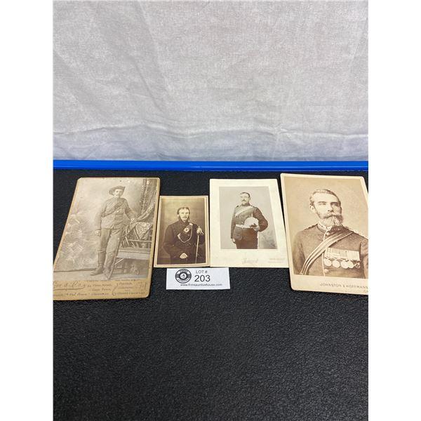 4 x 1880's Military Photos