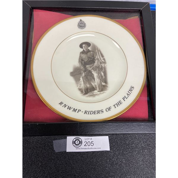 Framed North West Mounted Police Plate