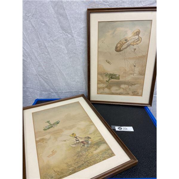 Two Framed Prints of Royal Flying Corps