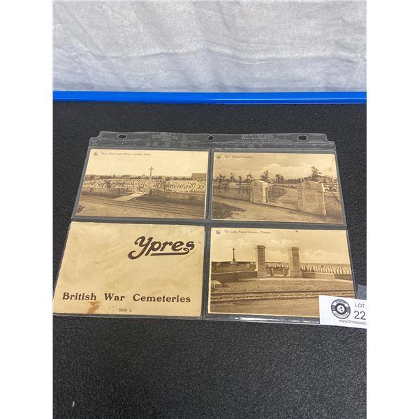 Eight Postcards WW1 YPRES