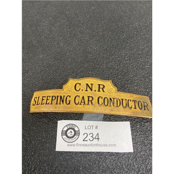 Canadian National Railway CNR Sleeping Conductor Cap Badge