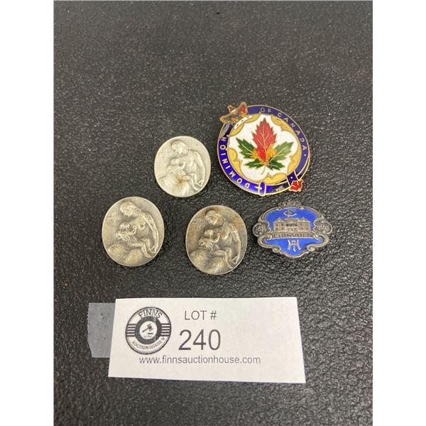 7 x Canadian Badges, European Badges