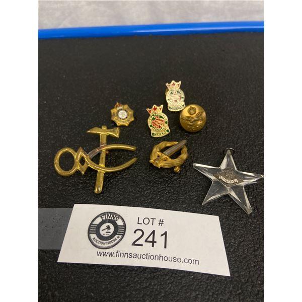Canadian WW11 Badges, RCAF Button, Veterans Badges
