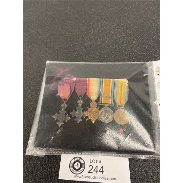 5 x WW1 Minitures Medals Group Canadian/British