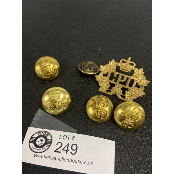 6 x Canada Post Set Badge, Buttons