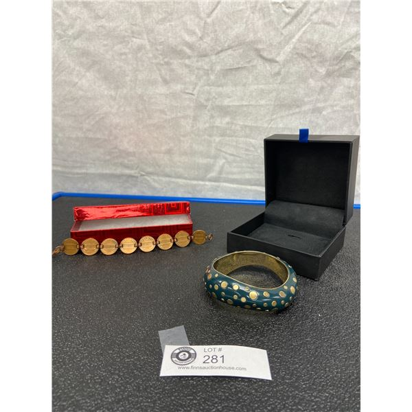 Adrienne Vittadini Designer Bracelet  and Unique American Coin Treasures Copper Penny Bracelet