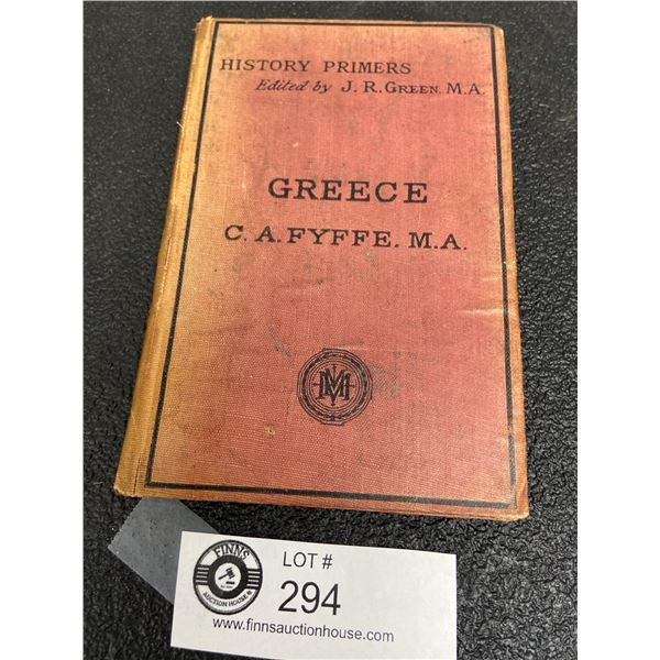 History of Greece by CA Fyffe, London MacMillan and Co, 1876, 2nd Edition