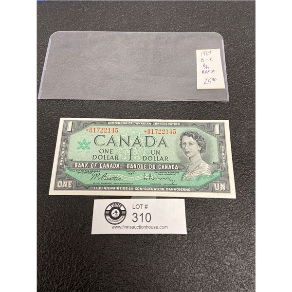 1967 Centnnial of Canadian Confederation $1 Replacement Note Excellent Condition in Holder