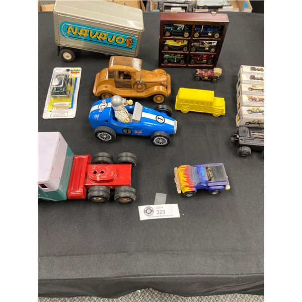 Nice Tray Lot of Vintage Toys, Tin Trucks etc