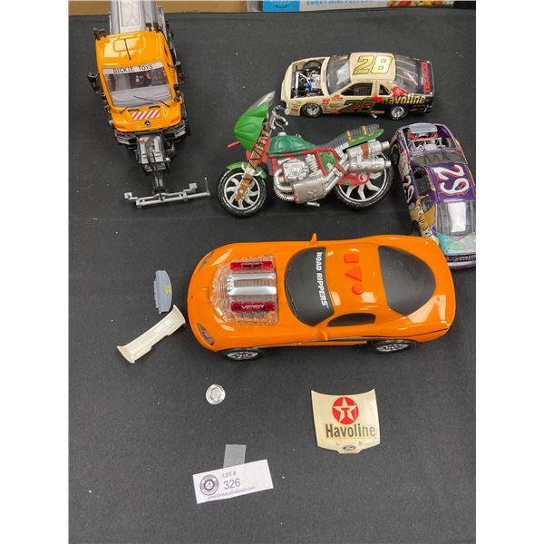 Tray Lot of Collectible Toys, Trucks and Cars