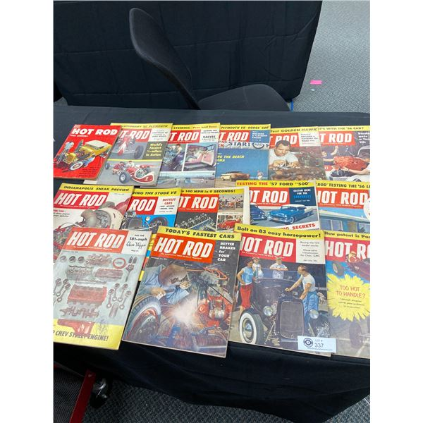 Lot of 15 Hot Rod Magazines from the 1950's
