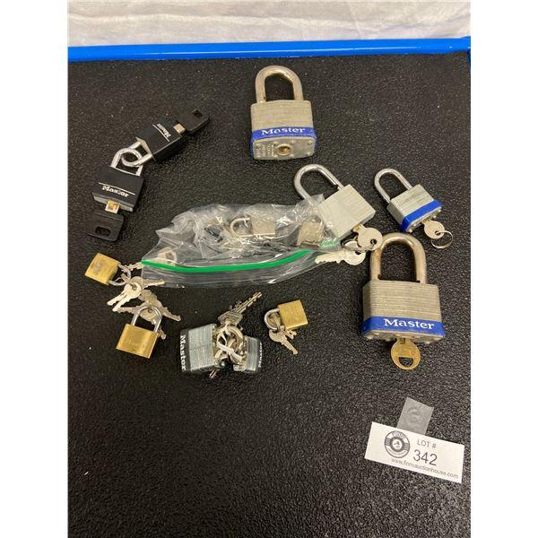 Nice Lot of Good Working order Locks with Keys