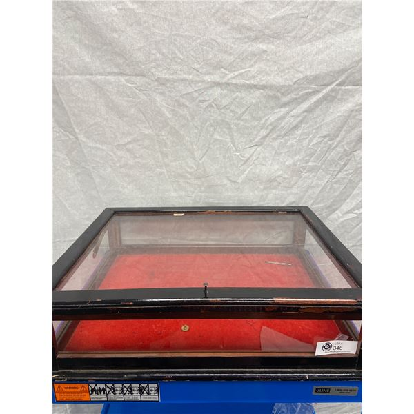 """23 x 18x6"""" Glass Display Case Crack in Back Glass"""
