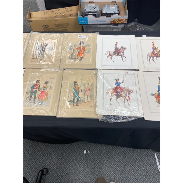 """Large Lot of Prints 10"""" x 13"""" From WWI Era and Newer"""