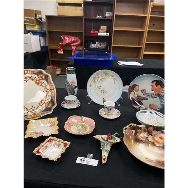 Vintage Dishes, Rockwell Plates Etc
