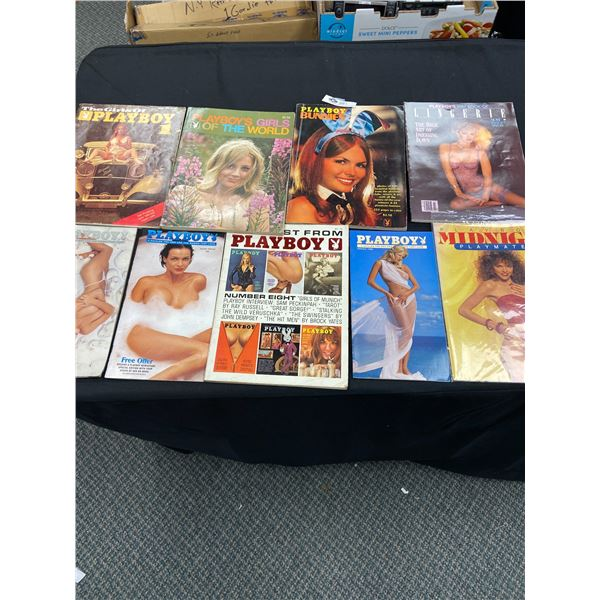 Lot of Playboy Magazines, Catalogues Playmates Etc