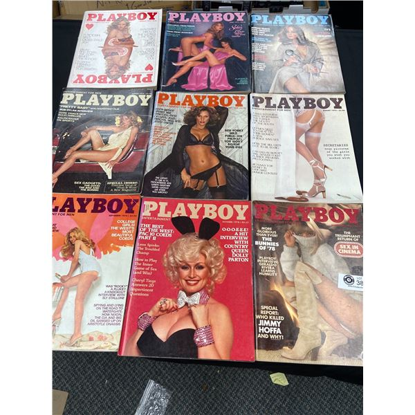 9 Issues of 1978 Playboy Magazines
