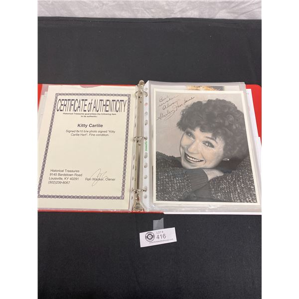 """Binder with 8""""x10"""" Hollywood Photos, Lots Autographed, Some Not"""