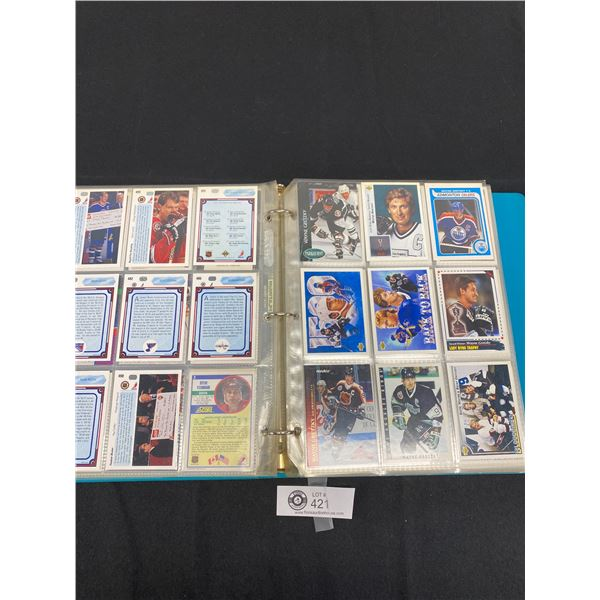 Binder Full of NHL Trading Cards from the 1980's and 90's