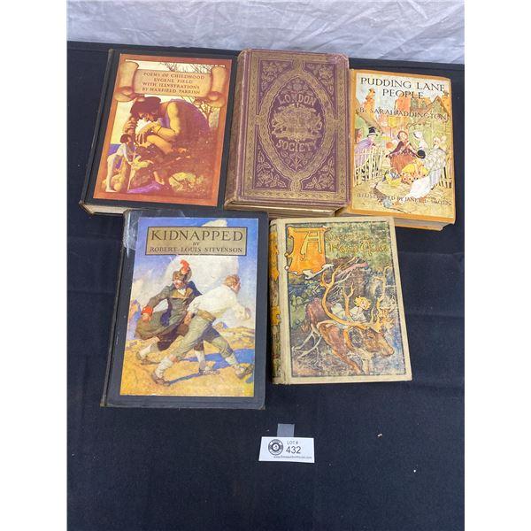 Lot of 5 Antique Books 1870  London Society  etc