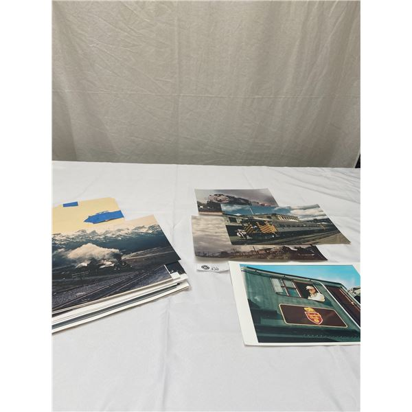 Large Lot of Vintage Railway Photos Including Canadian Pacific, BC Rail, Etc with Some Documents