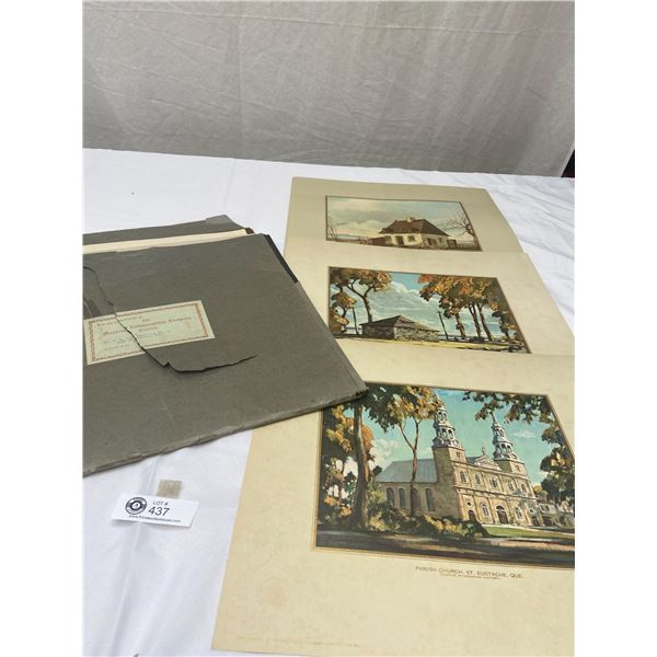 Lot of 11 Vintage Lithographs Printed by Montreal Lithographing Co. Ltd
