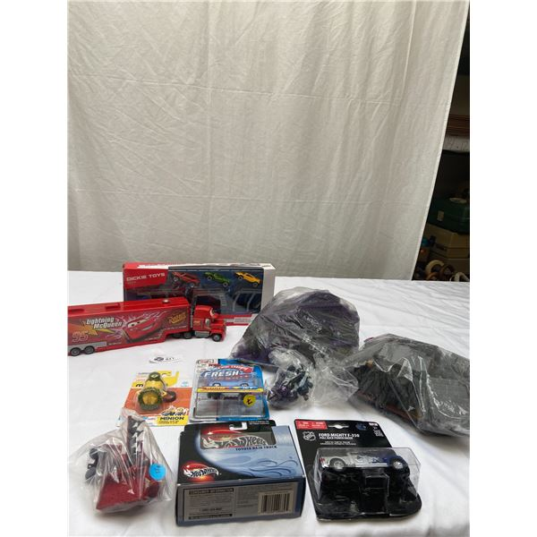 Toy Lot. Some New in Package. Hotwheels, Maisto,Disney etc