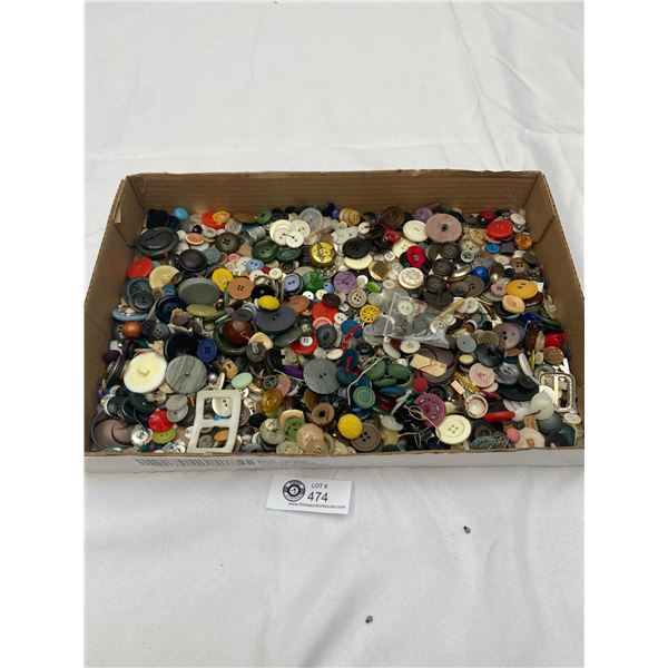 Large Lot of Mixed Buttons Approx 300
