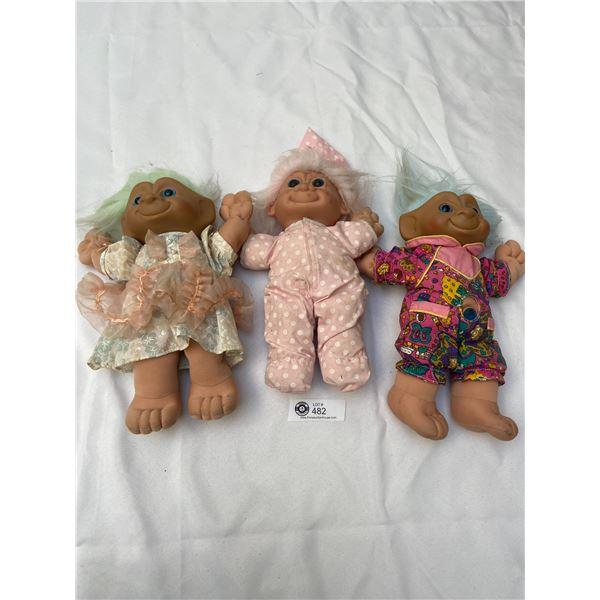 Lot of Vintage Troll Dolls