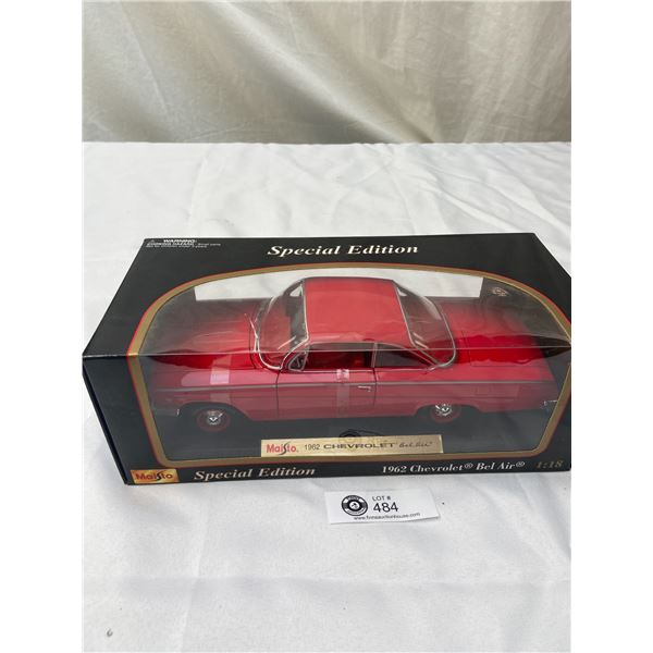 Special Edition 1:18 Scale 1962 Cheverolet Bel Air Still Sealed in Box