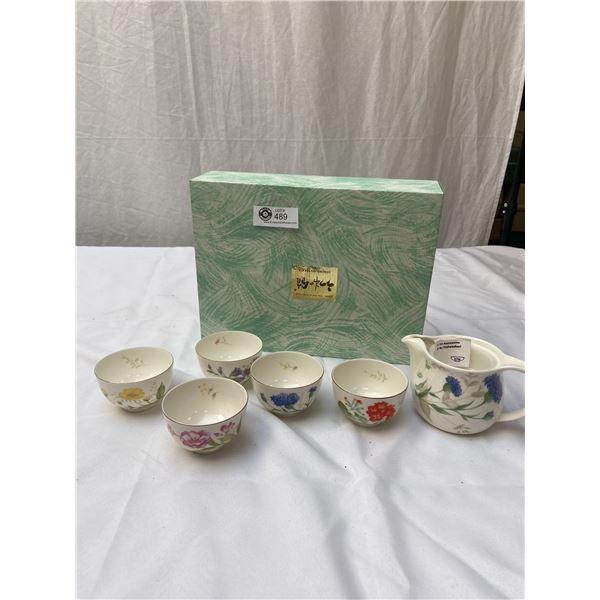 Japan The Art of Tableware Tea Set in Original Box