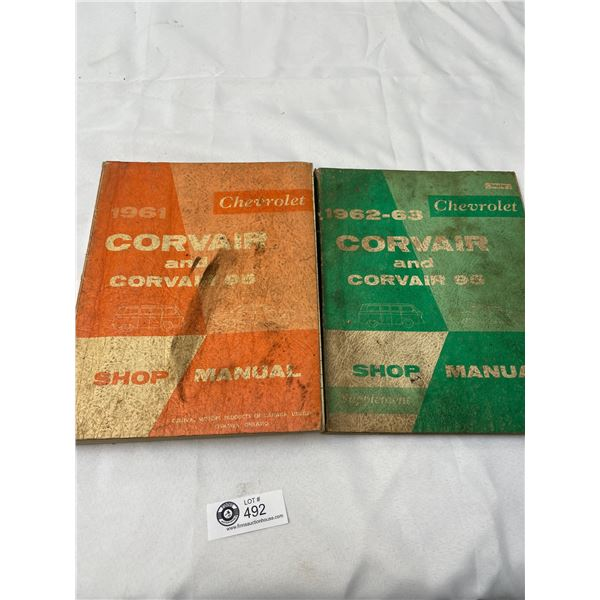 1961 and 62 Corvair and Corvair 95 Shop Manuals