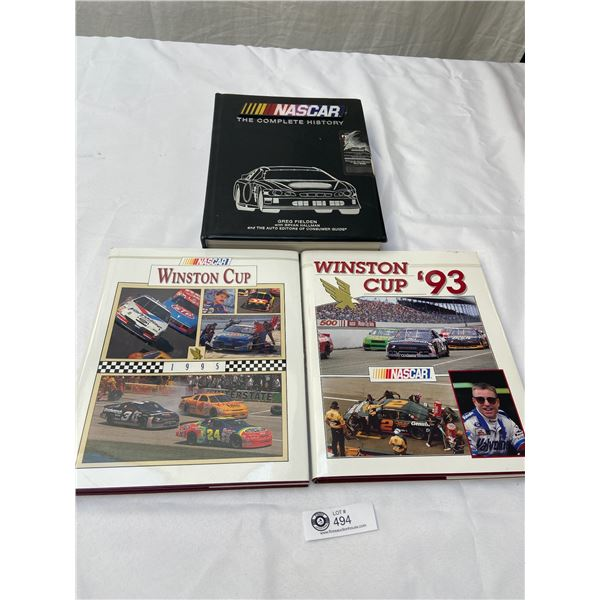 Lot of 3 Hardcover Books On Nascar History and Winston Cup