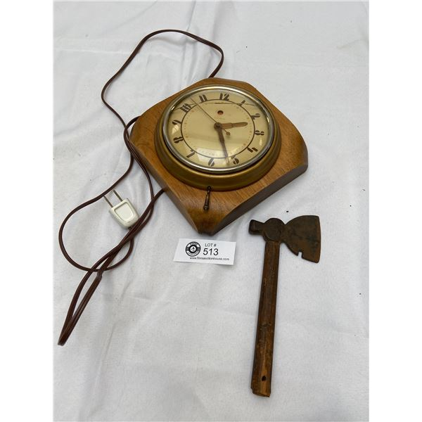 Vintage Wall Clock and Small Ax