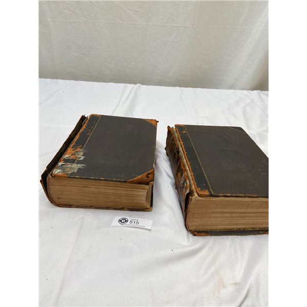 Volume 1 & 2 1854 The Imperial Dictionary. Complete. Covers are Loose