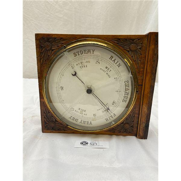 Vintage Barometer in Wooden Stand