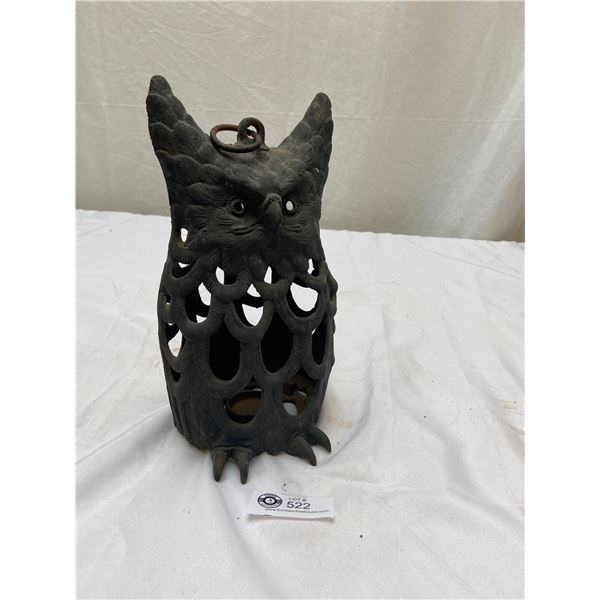 Decorative Cast Owl Candle Holder