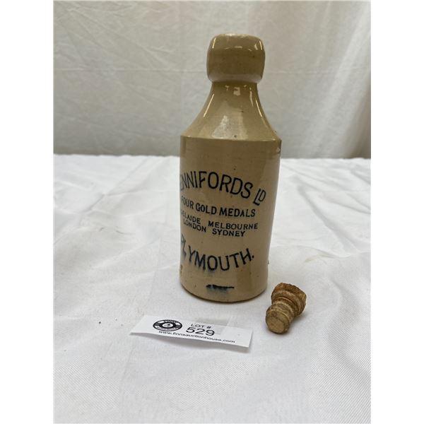 Dennifords Plymouth Vintage Stoneware Beer Bottle