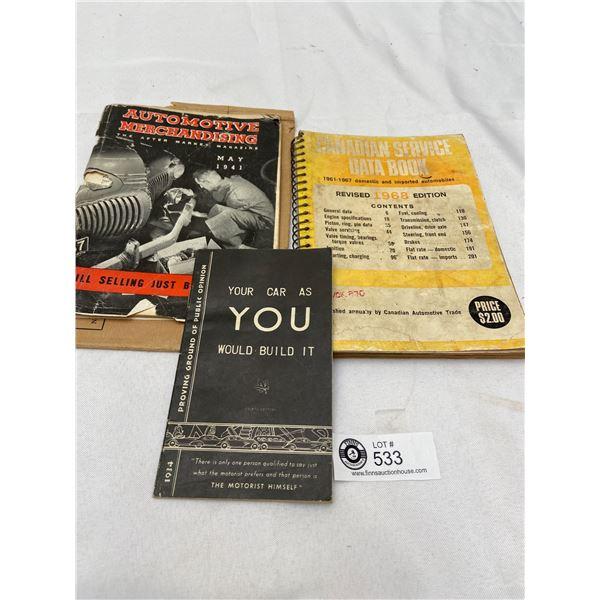 Lot of 1960's Automotive Books